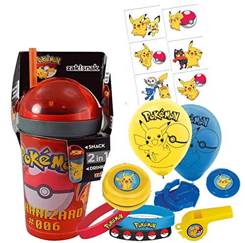 UPD Pokemon Fun Sip Favor Cup! Valentines Gift, Easter Basket Filler, Stocking Stuffer or Party Favor! Pre-Filled & Ready for Giving! Includes Keepsake Tumbler, Stickers & Favors!]()