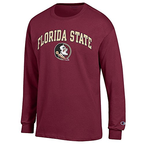 Elite Fan Shop Florida State Seminoles Long Sleeve Tshirt Varsity Garnet - X-Large