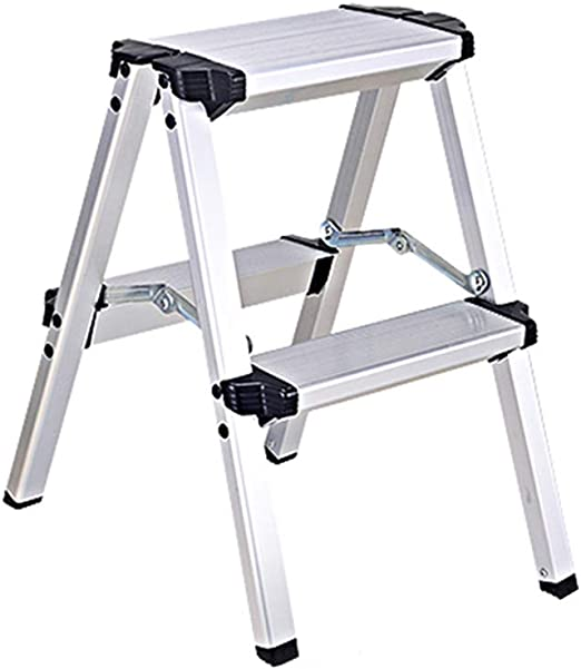 MILAYA JI Bin Shop® Taburete con Patas, Escalera Plegable De Aluminio, Escalera De Ingeniería con Extensión De Espiga, Escalera Doméstica + (Tamaño : 2 Step): Amazon.es: Hogar