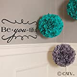 Be-You-Tiful (M) Wall Saying Vinyl Lettering Home Decor Decal Stickers Quotes