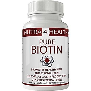 Natural Biotin Capsules | Pastillas BIOTIN Para el Cabello | 10000 MCG - Extra Strength Vitamins For Hair Growth, Strong Nails and Healthy Skin ...