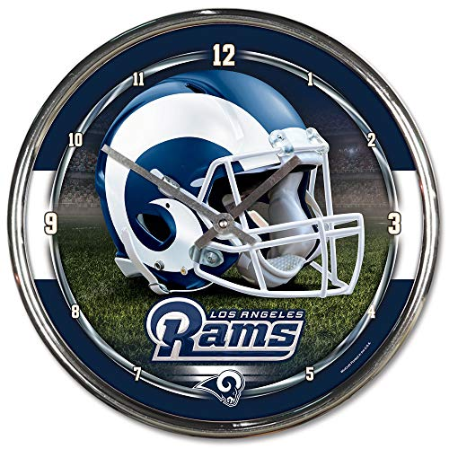Wincraft Plastic Clock - NFL Los Angeles Rams Chrome Clock