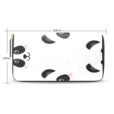 Amazon.com: Cartera larga con diseño de cara de panda para ...