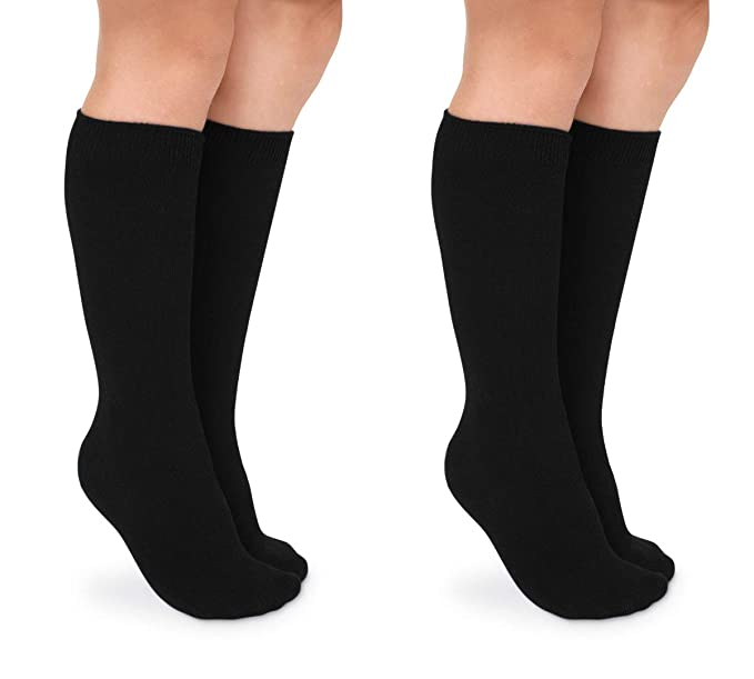 a8a2fe8edf169 Jefferies Socks Girls School Uniform Seamless Cotton Knee High Socks 2 Pair  Pack (Toddler -