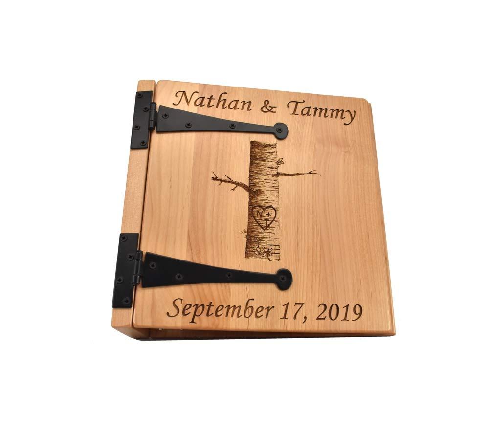 Amazon Com Personalized Wedding Photo Album Birch Tree 3 Ring Handmade