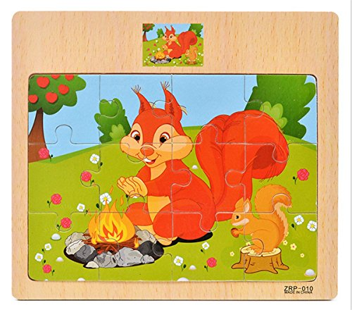 Squirrel Steel (Wooden Puzzle,❧Layhome 1PC Jigsaw Puzzle Baby Learning Toy (Squirrel))