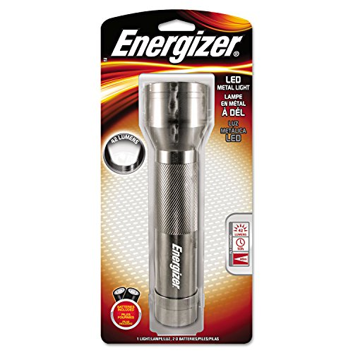 Metal Led Light, 2 D, Silver By: Energizer