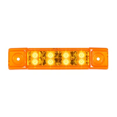 "GG Grand General 75185 Amber/Amber LED Light (6"" Rectangle Pearl 8, High/Low 3 Wires): Automotive"