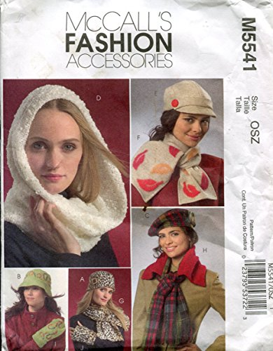 McCall's Fashion Accessories Pattern M5541 Hats, Scarves and - Mccalls Fashion Accessories