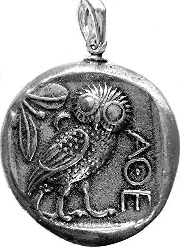 d/éesse de la Sagesse Bijoux Gr/èce Antique Pi/èce Pendentif Ath/éna et Hibou mythologie Grecque