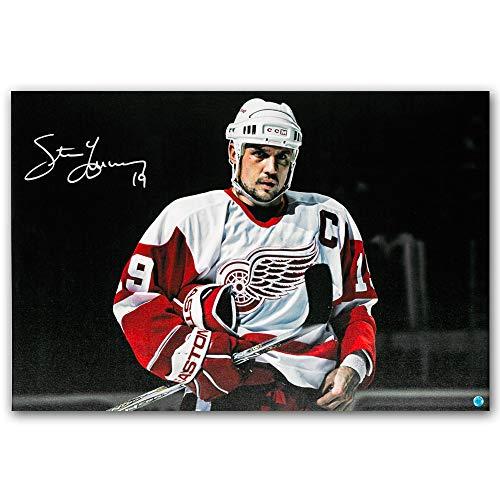 - AJ Sports World Steve Yzerman Detroit Red Wings Autographed Intensity 24x35 Art Canvas