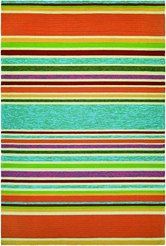 Couristan Covington Sherbet Stripe/Multi Rug, 2-Feet x 4-Feet, Azure