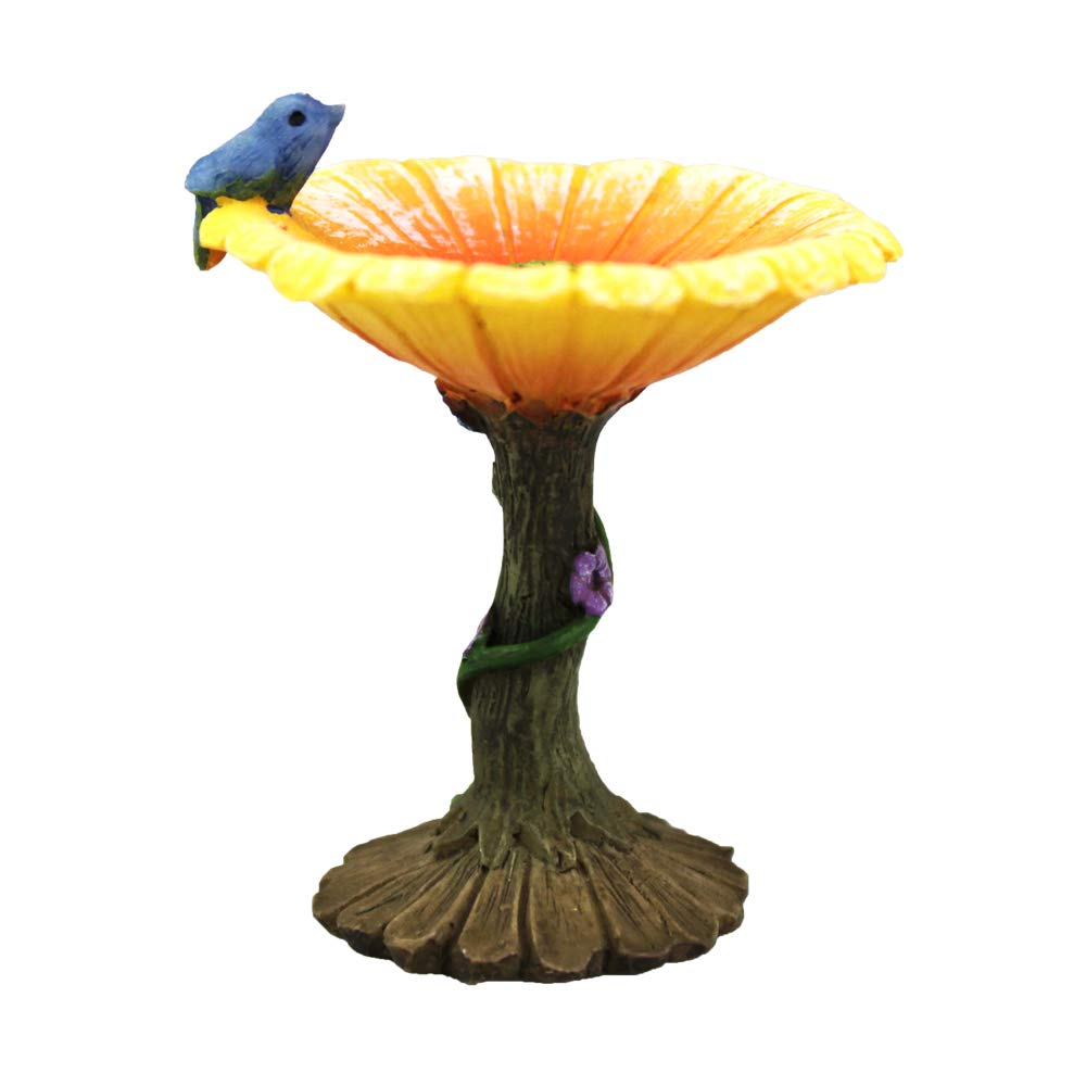 NW Wholesaler Miniature Fairy Garden Flower Birdbath