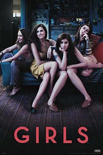 Girls Hbo Series Poster Art Print Starring Lena Dunham, Allison Williams, Jemima Kirke Season