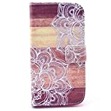 Galaxy Core LTE Case, Galaxy Avant Case, Candy House Samsung Galaxy Core LTE G386 / Galaxy Avant Case Nature Flower Pattern Horizontal Wallet Case Magnetic Closure Flip Cover