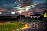 Fenway park boston massachusetts baseball park - Print on Canvas 40.5 x 27.5inch: Unframed