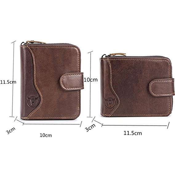 Amazon.com : Dig dog bone Mens Wallet Leather Multi-Card ...
