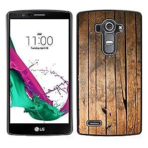 LECELL--Funda protectora / Cubierta / Piel For LG G4 -- Cubierta de la nave Suelo Vertical Líneas de Granos --