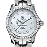 Brown University TAG Heuer Watch - Women's Link with Diamond Bezel at M.LaHart