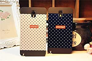 Galaxy Note3 Case,Polka Dot Back Case Cover for Samsung Galaxy Note3 , 1 piece,Black Kimberly Kurzendoerfer