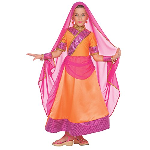 Girls Indian Bollywood Dance Costume for Kids Hindi Quality Fancy Dress – Medium (Age - Bollywood Kids Costume