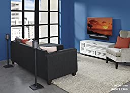 Sanus Wireless Speaker Stand Designed for SONOS PLAY 1 and PLAY 3 Speakers - Pair (Black) - WSS2-B1