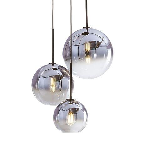 I Xun Gradient Color Silver Glass Lamp Shade E27 Screw