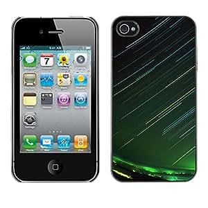 Disparos Luz Dardos - Metal de aluminio y de plástico duro Caja del teléfono - Negro - iPhone 4 / 4S