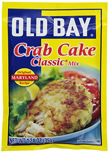 [Old Bay Crab Cake Classic Crab Cake Mix, 1.24-Ounce Packets (Pack of 12)] (Maryland Crab Meat)