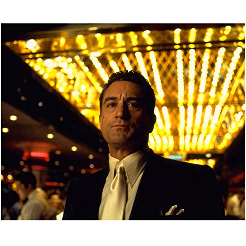 Robert De Niro in Black Suit Jacket and Off White Satin Tie Lights on Ceiling 8 x 10 inch photo