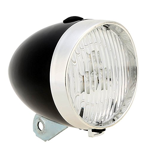 Old-fashioned Style 3 LED 500 Lumen Water-resistant Bicycle Light Lamp Bike Front Light (Black)