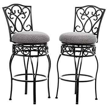 Enjoyable Bar Stool Counter Stool Chase 30 Inch Swivel Seats Bar Stools M649 30In Black And Tan Seat Upholstery Fabric Pack Of 2 Inzonedesignstudio Interior Chair Design Inzonedesignstudiocom