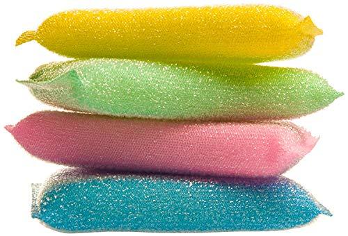 4 pack melamine sponge Magic Sponge Eraser Melamine Cleaner for Kitchen Office Bathroom Cleaning nano spoonge 10x8x2cm(random color)