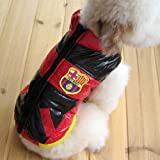 RED & BLACK Colored Dog Jacket Polyester Cotton Royal Soccer Seal Patch-Size 1