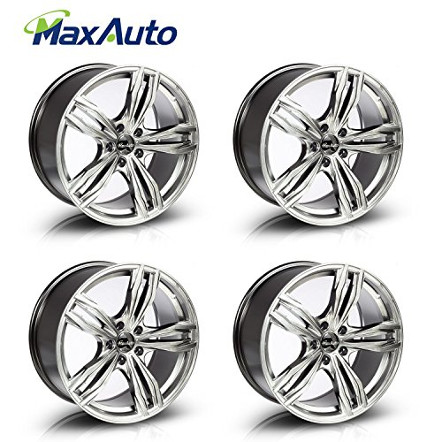 MaxAuto Wheels Rims 18″ 18×8.5 Inch 5×114.3/5×4.5 +35 mm Offset Hyper Black Surface Finish 5 Lug (4)