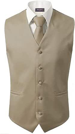 3 Pcs Vest + Tie + Hankie Men's Fashion Formal Dress Suit Slim Tuxedo Waistcoat Coat