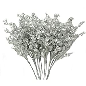 12 Silver Baby's Breath Gypsophila Beautiful Silk Wedding Flowers Centerpieces Fillers Gyp 114