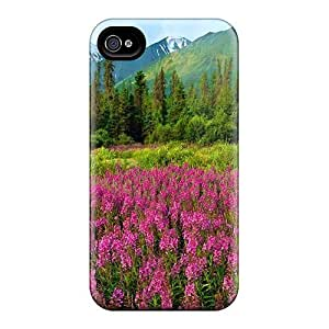 Awesome Design Mountain Wildflowers Hard Cases Covers For Iphone 6