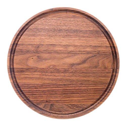round wood cutting board by virginia boys kitchens 10 5 inch american walnut ebay. Black Bedroom Furniture Sets. Home Design Ideas