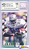 Vintage 1990's Emmitt Smith Hidden Treasures with a Piece of Authentic Emmitt Smith GAME USED Jersey Graded BGS Beckett 10 Mint GGUM Card! Awesome HIGH Grade Vintage Emmitt Game Used Card! Wowzzer!