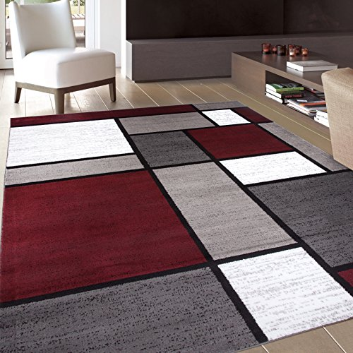 - Rugshop Contemporary Modern Boxes Area Rug, 5' 3
