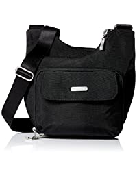Baggallini Criss Cross Travel Crossbody Bag, Black, One Size