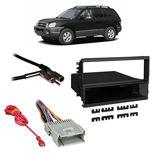 Fits Hyundai Santa Fe 03-06 w/Monsoon Single DIN Harness Radio Dash Kit ()