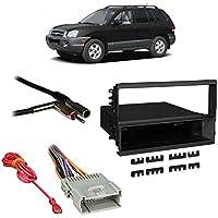 Fits Hyundai Santa Fe 03-06 w/ Monsoon Single DIN Harness Radio Dash Kit