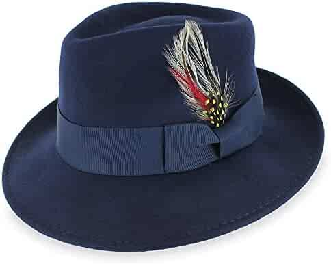c026d322ea3 Hats in the Belfry Belfry Gangster 100% Wool Stain-Resistant Crushable  Dress Fedora in