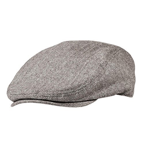 District Men's Cabby Hat S/M Brown/Cream