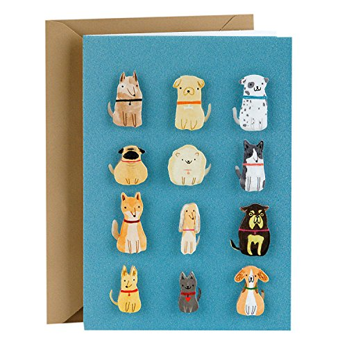 Hallmark Signature Blank Greeting Card (Small Dogs) - Terrier Birthday Card