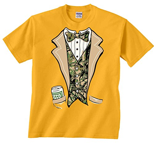 Fair Game Camouflage Tux T-Shirt-Gold-3x -