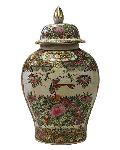 Chinese Oriental Famille Rose Porcelain People Scenery Flat Jar Acs3058