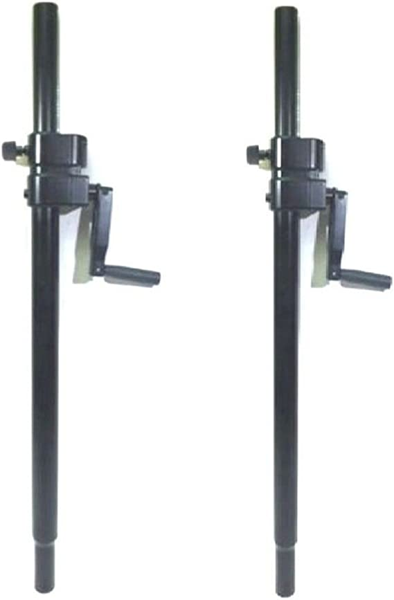 LASE 201C Crank-up Speaker Stand with Folding Hand Crank. 2 Two